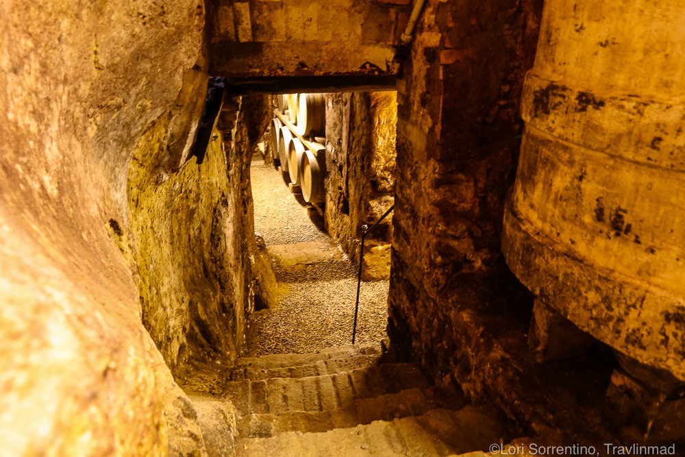 A wine cellar nearly 1,000 years old at Pacina Winery, Chianti Colli Senesi, Tuscany