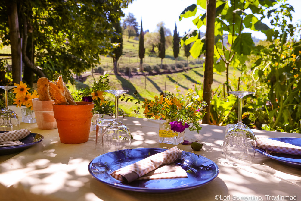 Tuscan lunch, Chianti, Italy