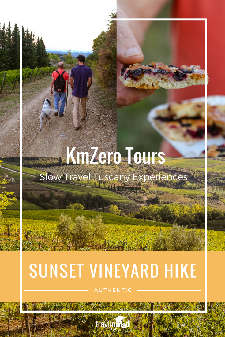 Sunset vineyard hike, Chianti