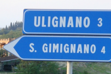 Highway sign, Italy