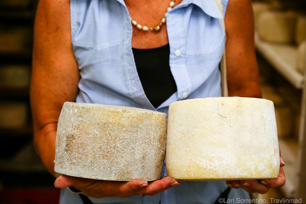 Aging pecorino cheese
