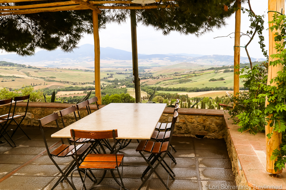 View of the UNESCO valley, Pienza, Italy