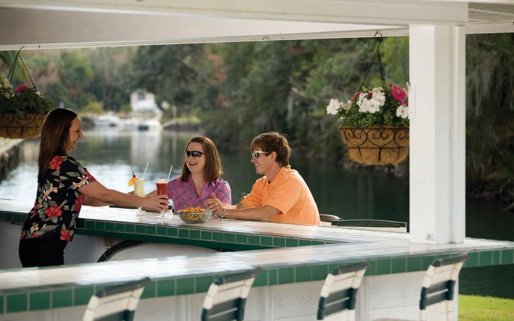 Tiki bar at the Plantation on Crystal River