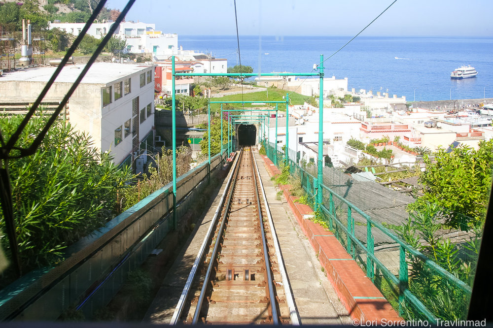 Funicular Capri cable car, Isle of Capri, Italy