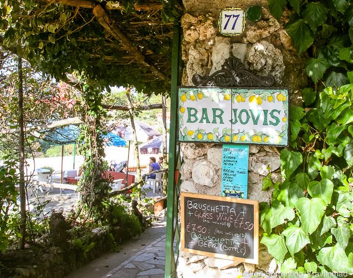 Bar Jovis on Capri, Italy