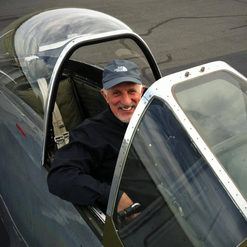 Angelo in a P-51 Mustang