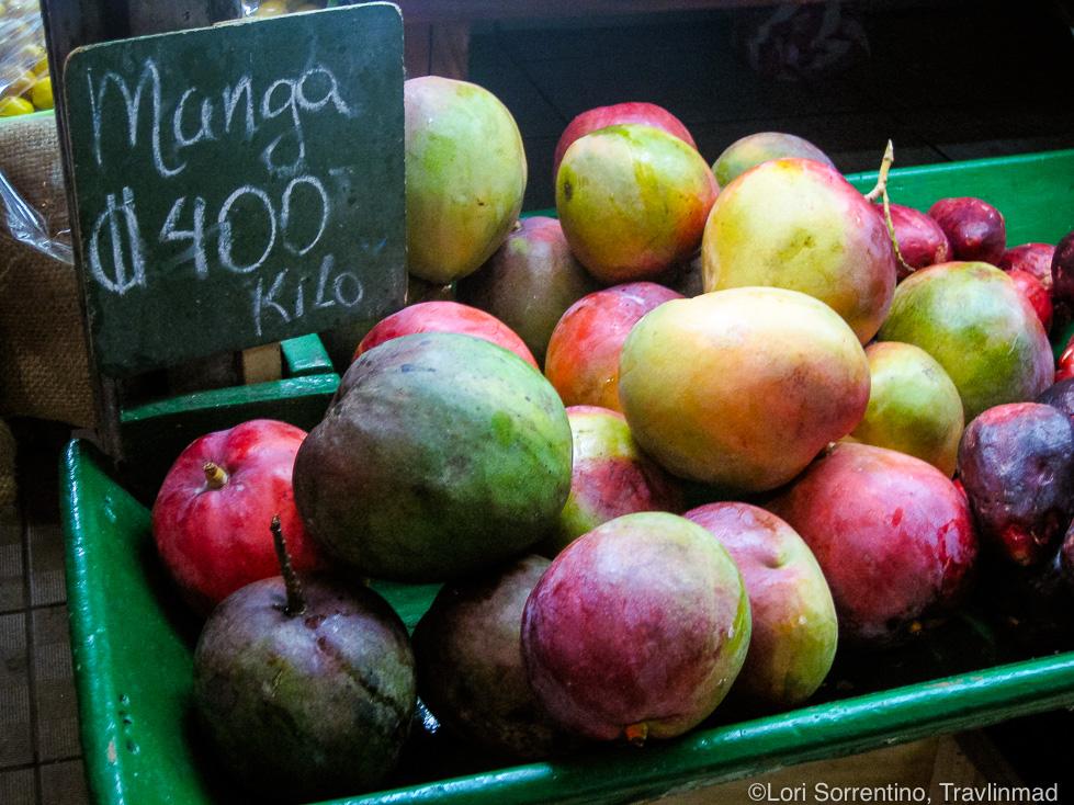 Fresh mangos at the Central Market, San Jose, Costa Rica