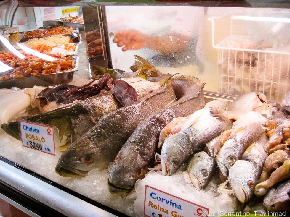 Fresh fish at Mercado Central, Costa Rica
