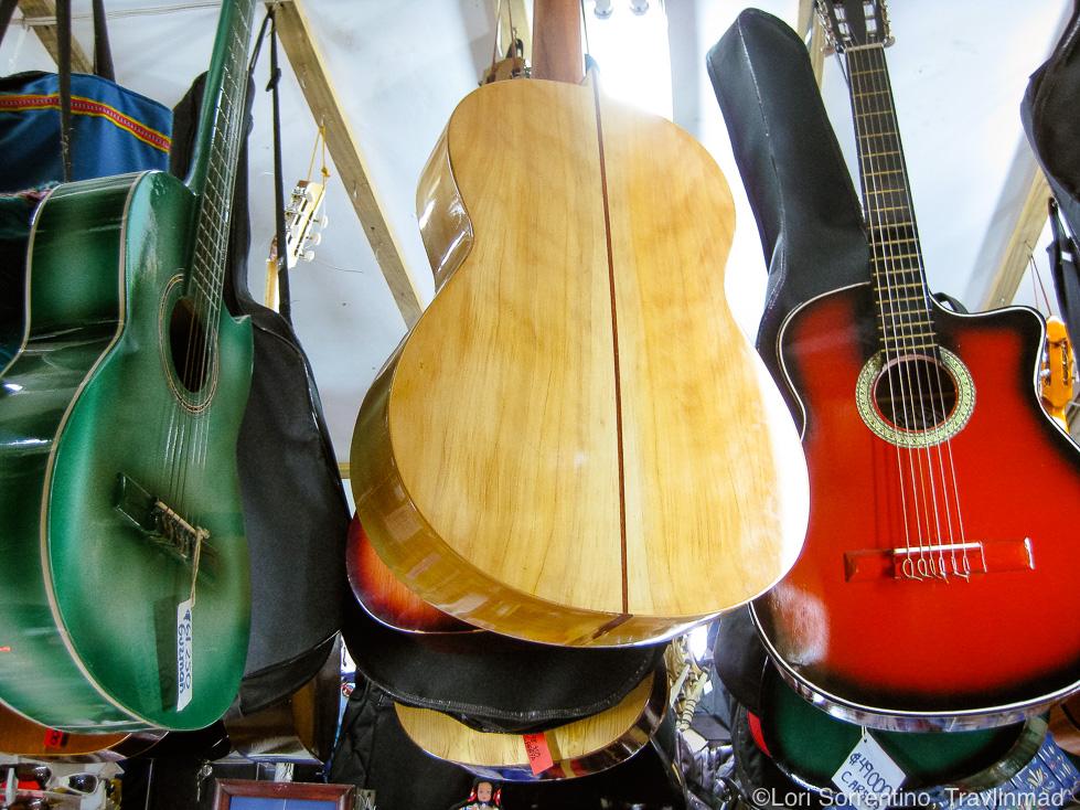 Handmade guitars, Mercado Central, Central Market, San Jose, Costa Rica