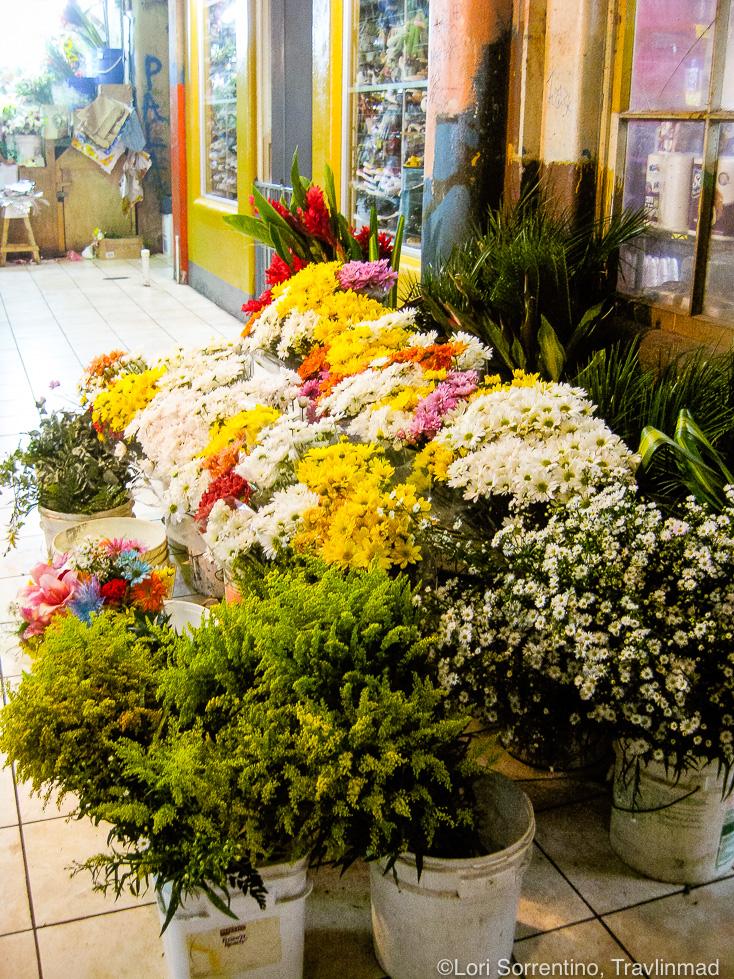Fresh flowers, Mercado Central, Central Market, San Jose, Costa Rica
