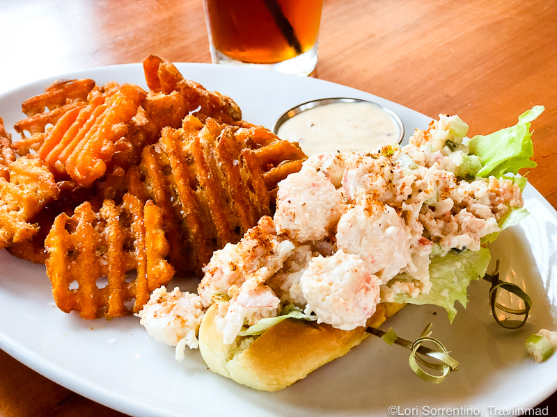 Lobster roll and sweet potato fries, The Edison, Tallahassee, Florida