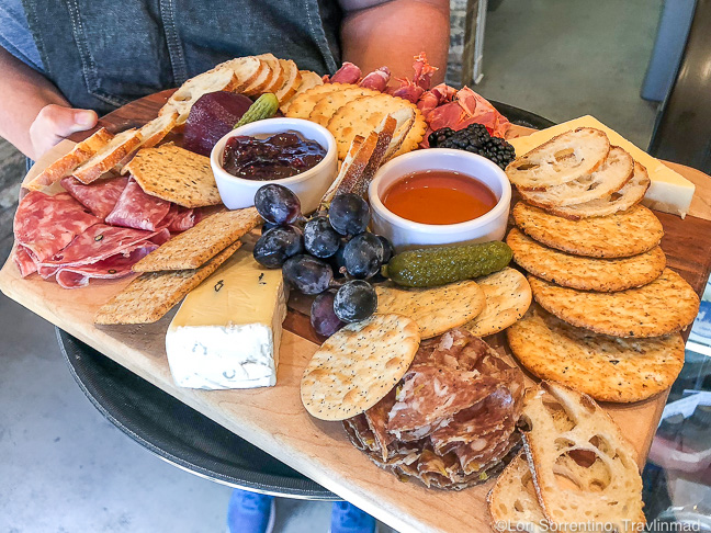 Cheese and charcuterie board, The Cheese Cottage, Mobile, Alabama