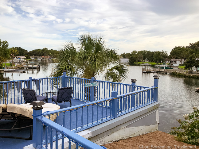 Rooftop deck at the Crystal Blue Lagoon, Crystal River, FL