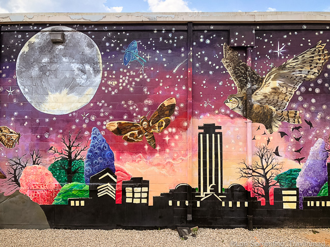 Colorful street art, Tallahassee, Florida