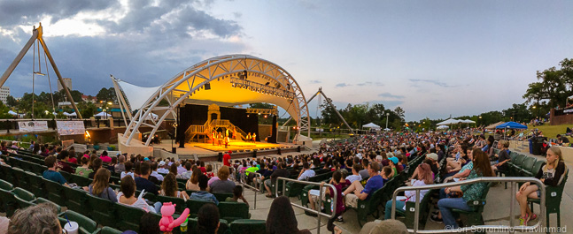 Capital City amphitheater, Cascades Park in Tallahassee, Florida