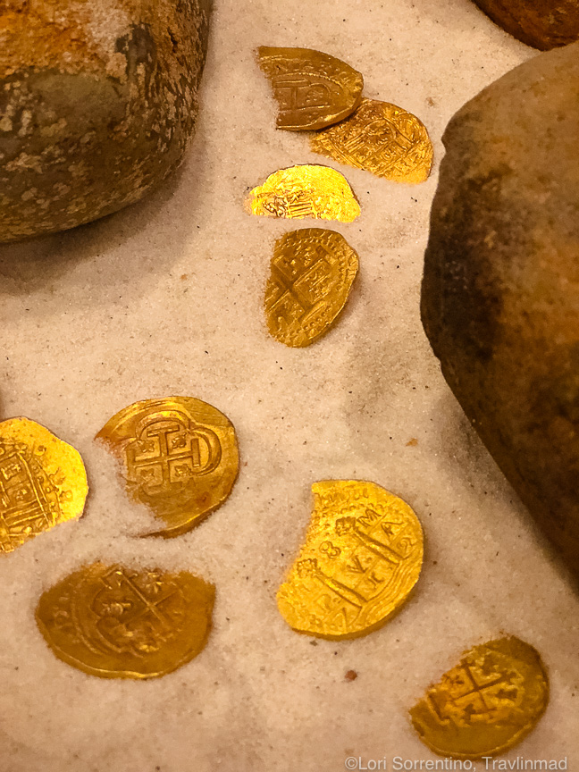 Gold coins, Museum of Florida history, Tallahassee, Florida