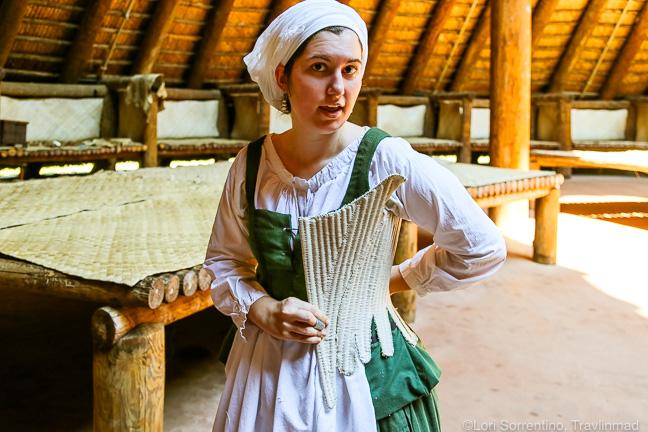 Living history, at Mission San Luis, Tallahassee, Florida