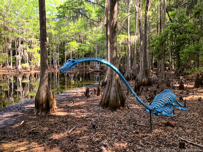 Outdoor sculpture, Tallahassee Museum, Florida
