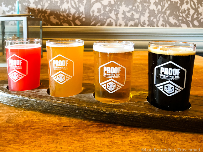 Beer flight, Proof Brewing Company, Tallahassee, Florida