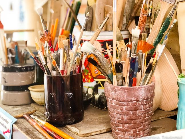 Art supplies, LeMoyne Center for the Visual Arts, Tallahassee, Florida