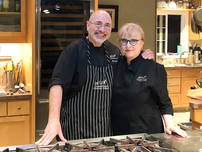Chefs Bob Neroni and Lenore Emery-Neroni, EVOO Cannon Beach, Oregon