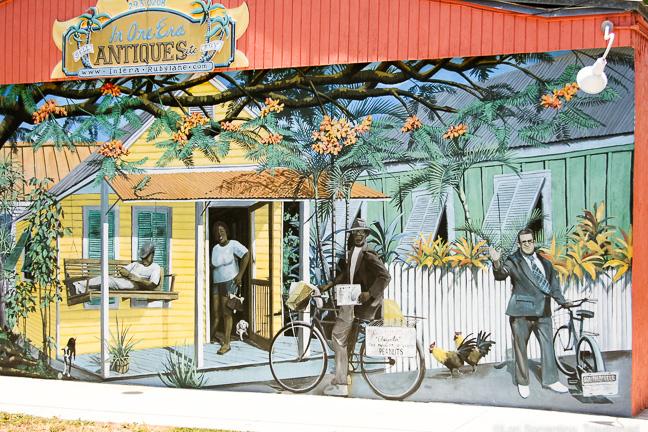 Mural at Bahama Village, Key West, Florida
