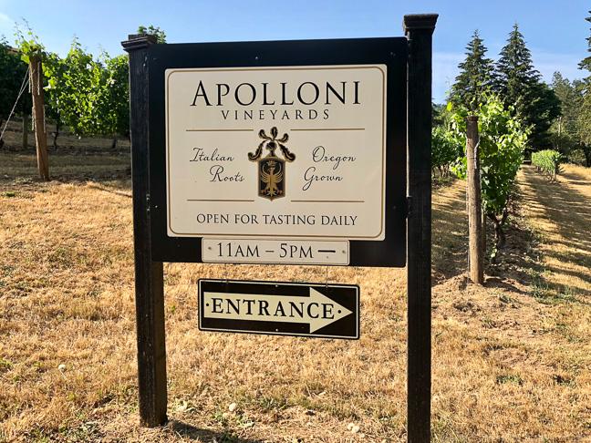 Apolloni Vineyards, Willamette Valley, Oregon