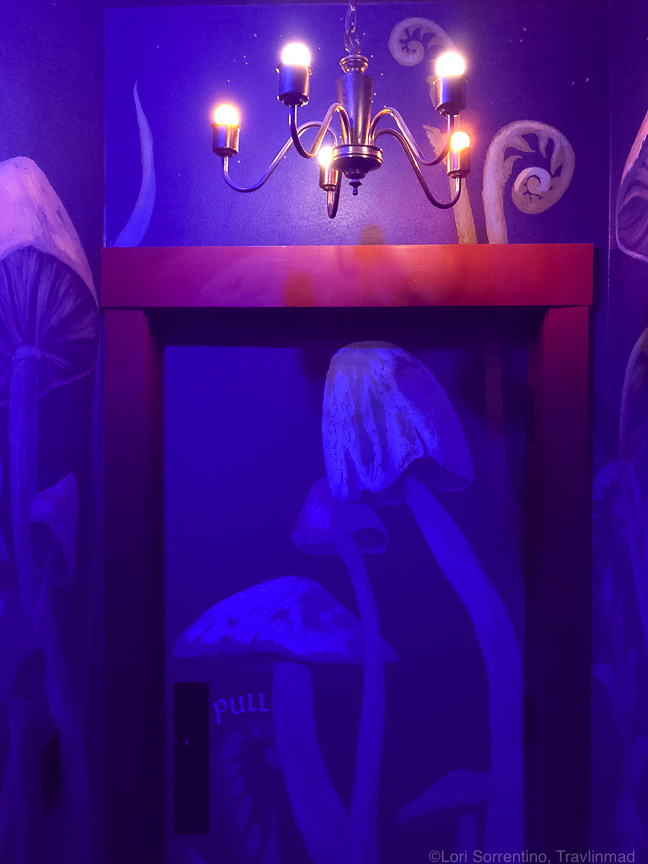 Inside the secret passageway