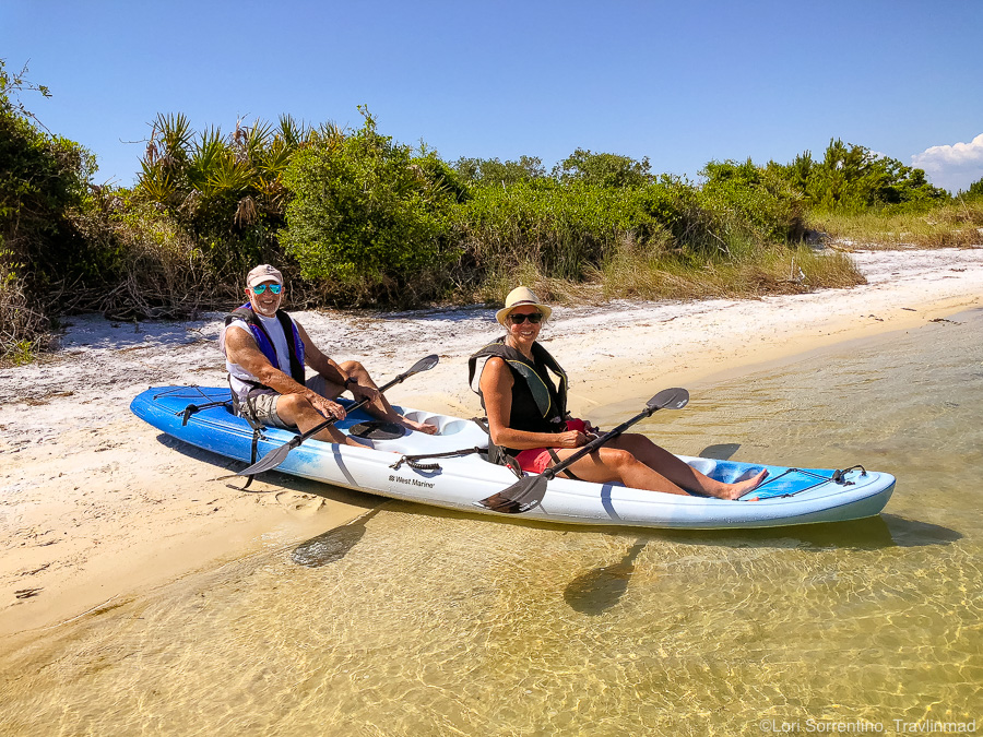 Kayaking in Orange Beach, Alabama on a Gulf Coast road trip