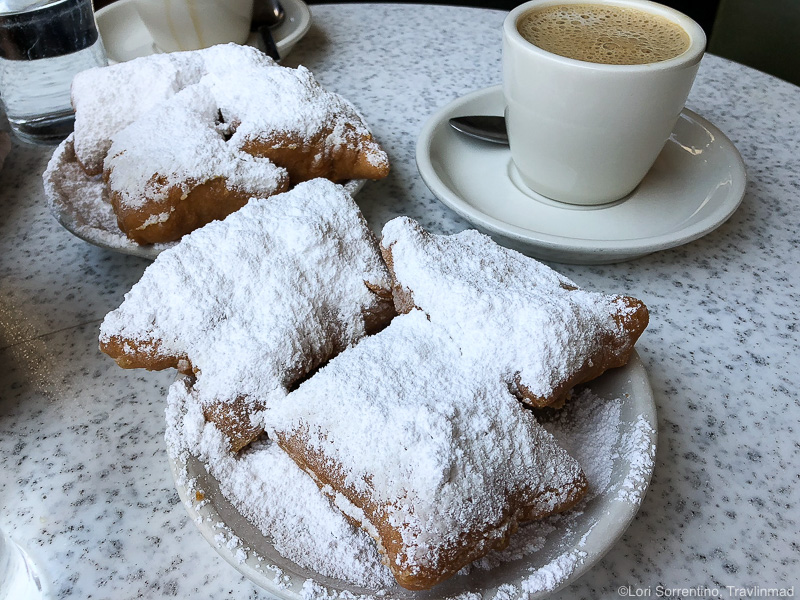 Sweet beignets at Cafe du Monde, New Orleans, Louisiana