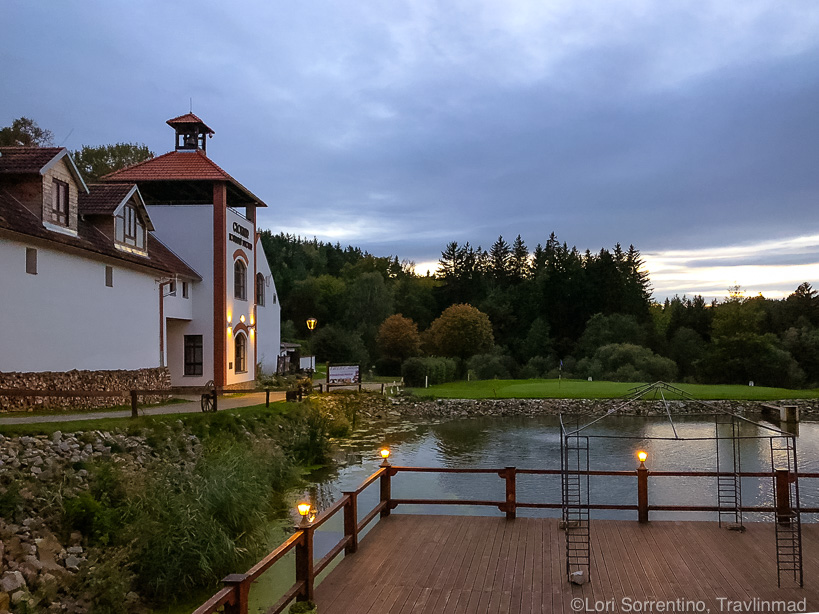 Sunset at Svachovka rural retreat in South Bohemia, Czech Republic