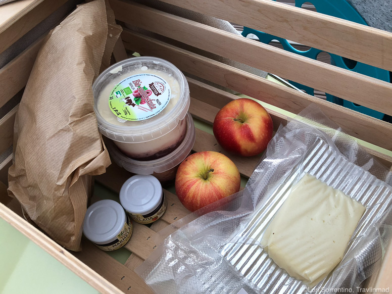 Fresh local food for breakfast delivered to our door, Big Berry, Slovenia
