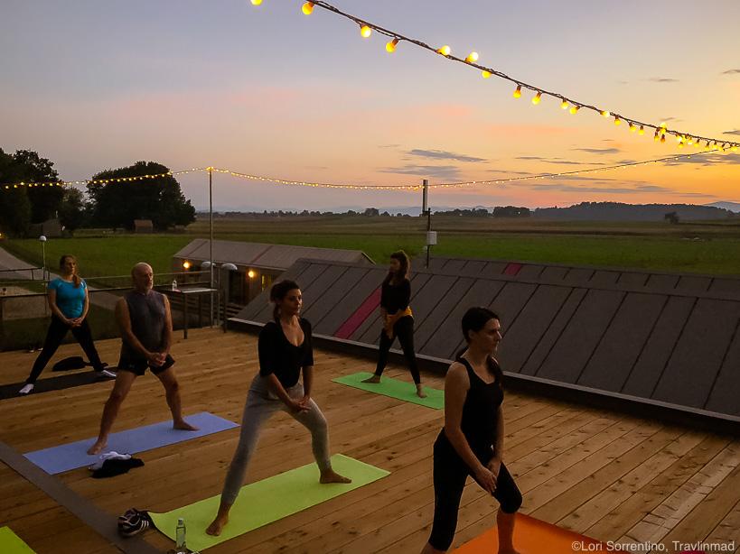Sunset yoga at Big Berry, Bela Krajina, Slovenia