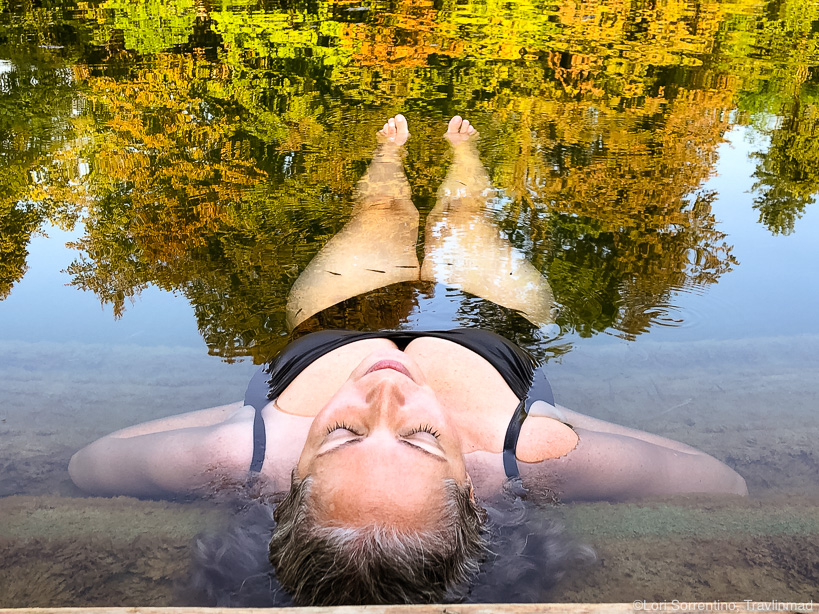 Swimming in the Kolpa River, Bela Krajina, Slovenia