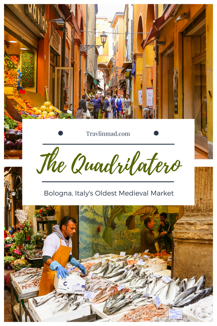 The Quadrilatero is the oldes market in Bologna, and definitely worth exploring when you visit Italy's culinary city!