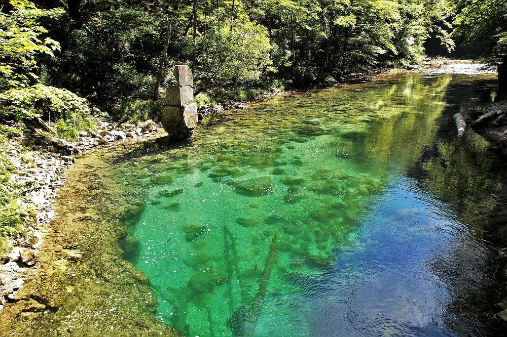 Vintgar Gorge near Lake Bled, Slovenia