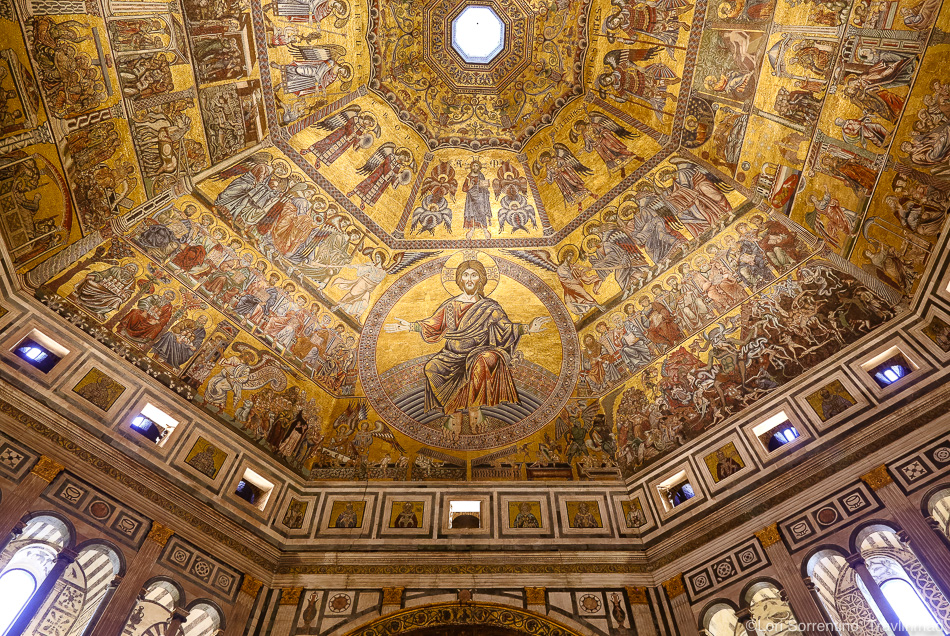 Ceiling of the Baptistry, Florence, Italy