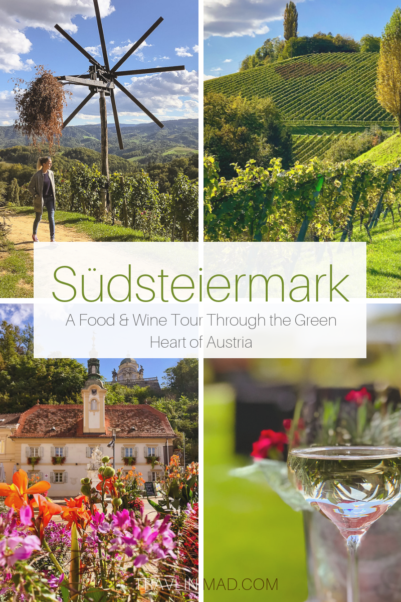 Food and wine lovers will love Südsteiermark and the South Styrian Wine Road in Austria. The green heart of Austria produces unique and tasty local foods and some of the best Austrian white wine.