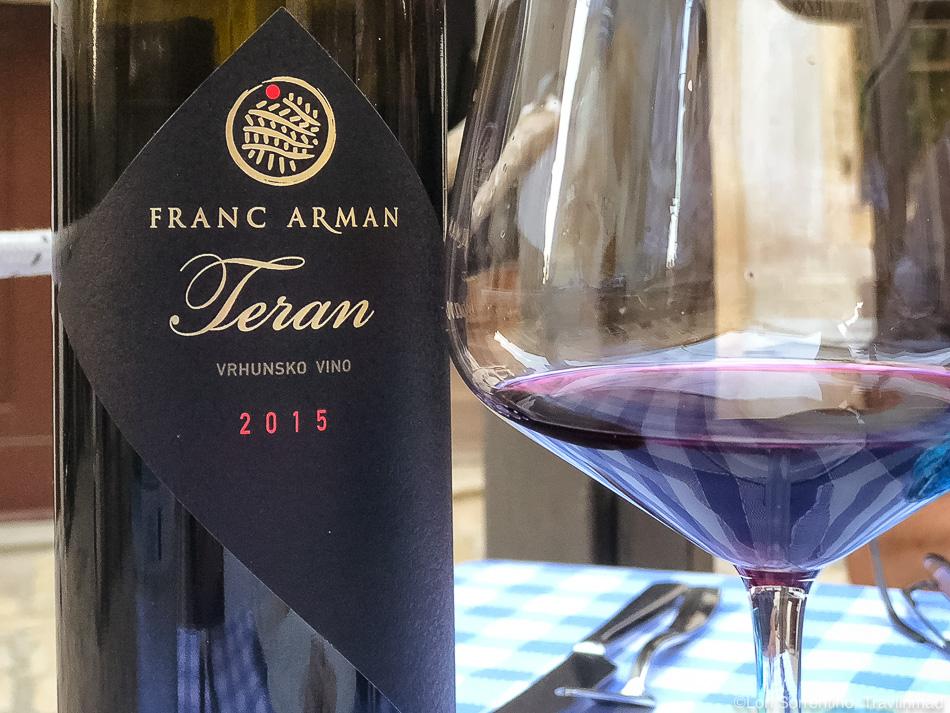 Teran, Istrian Wine, Rovinj, Croatia