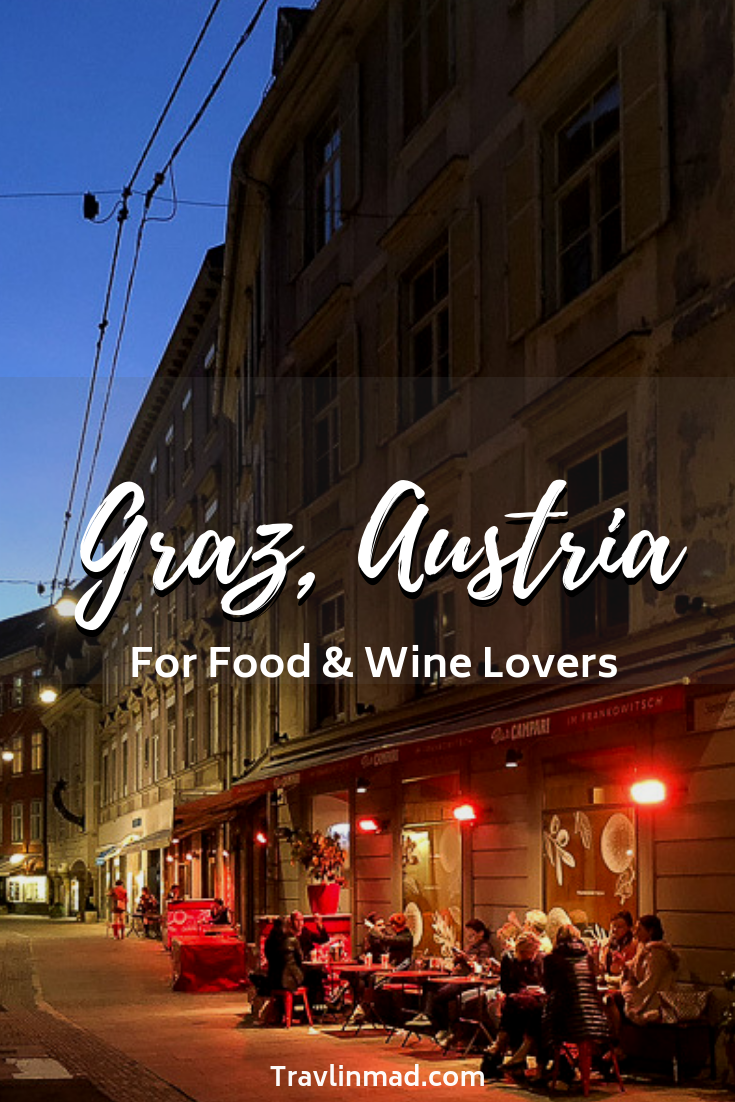 There are plenty of things to do in Graz; restaurants, local markets, and rich history. Graz, Austria is a food and wine lovers dream!