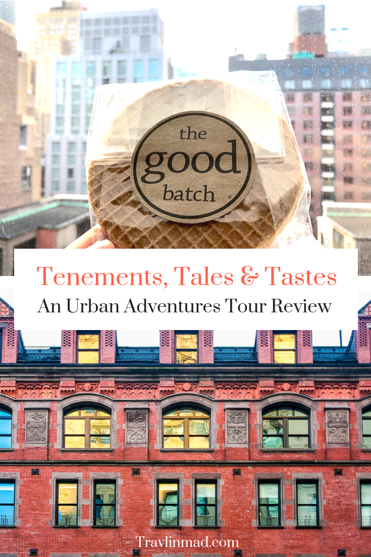 Tenements, Tales, and Tastes walking food tour of New York's Lower East Side, Urban Adventures NYC review #NYCfoodtour #NewYorkfoodtours