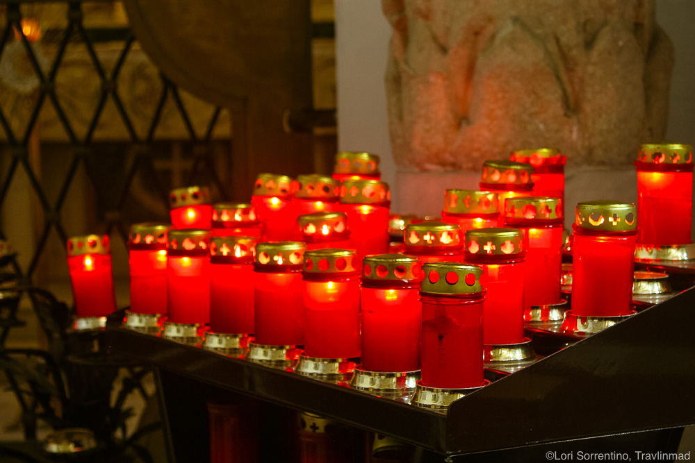 Offering candles, Duomo, Amalfi, Italy