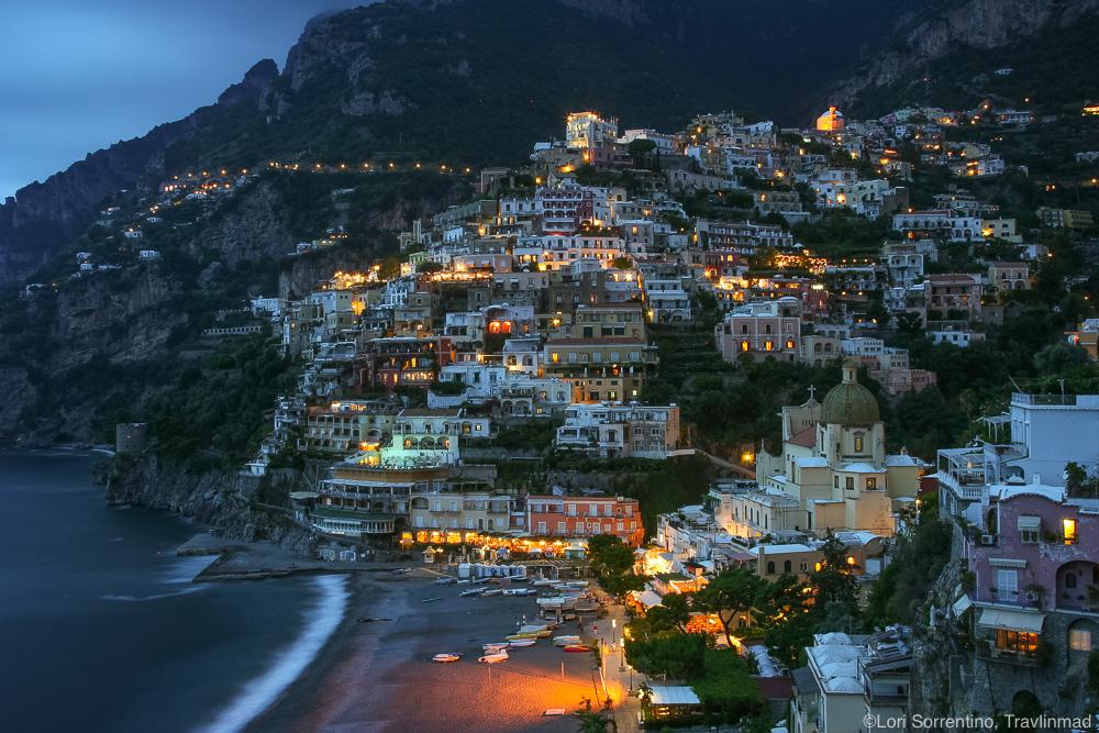 Blue Hour in Positano, Italy