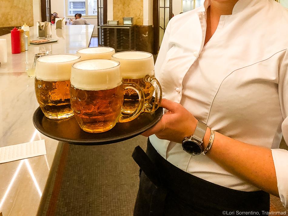 Czech beer at Kantyna, Taste of Prague food tour, Czech Republic