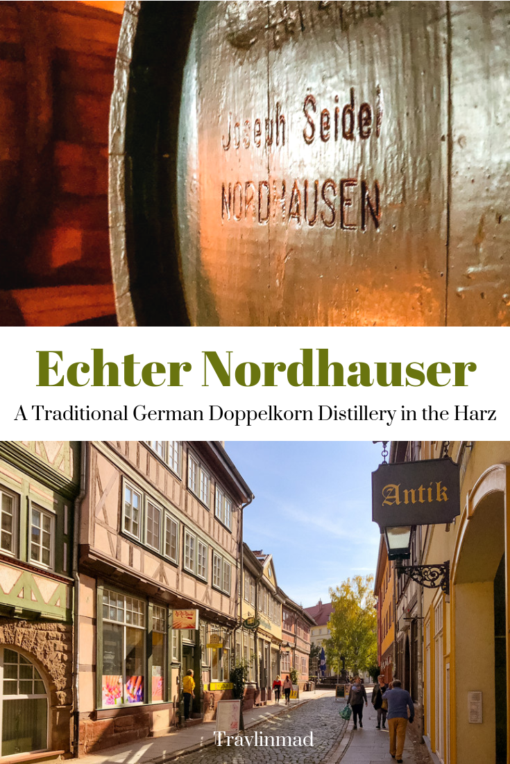 Germany is known for beer and Oktoberfest, but their long tradition of distilling is fun to explore at Echter Nordhäuser distillery where you can taste their Echter Nordhäuser doppelkorn!