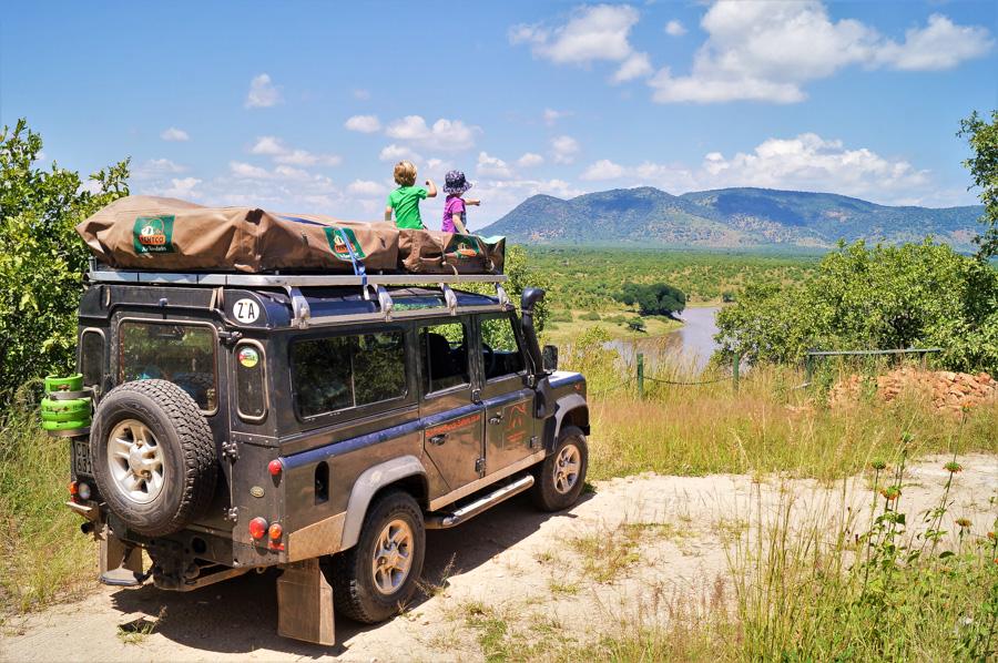 The TraveLynn Family on safari in Africa