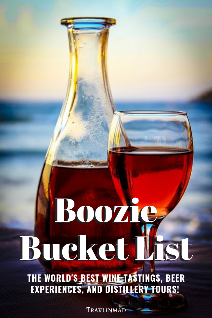Explore 30 of the world's best beer and wine tasting tours, distillery tours, and booze experiences on this Boozie Bucket List. Cheers!