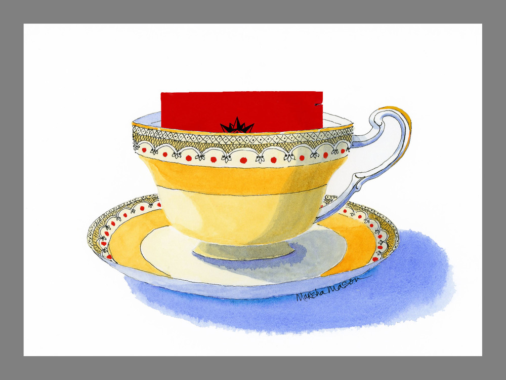 Tea Cup Art Cards    (Ten designs available)