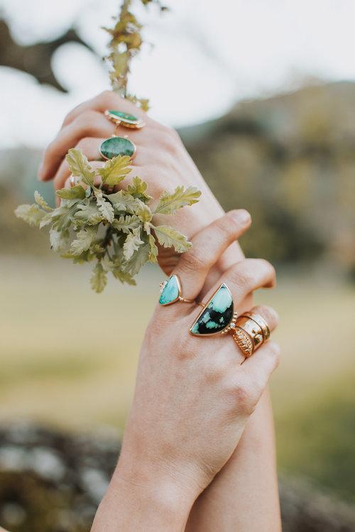 Jewelry by local designer Becca Cass