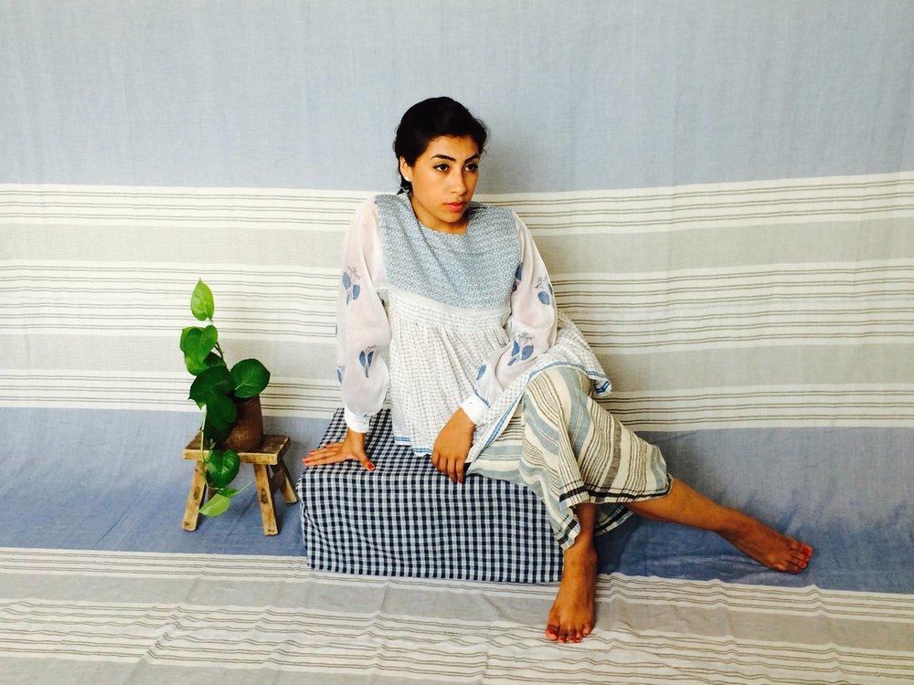 Injiri clothing & home textiles, designed and handmade in India.